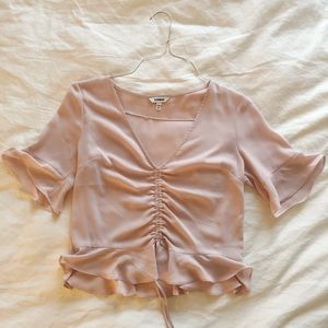 Express Pale Pink Crop Top